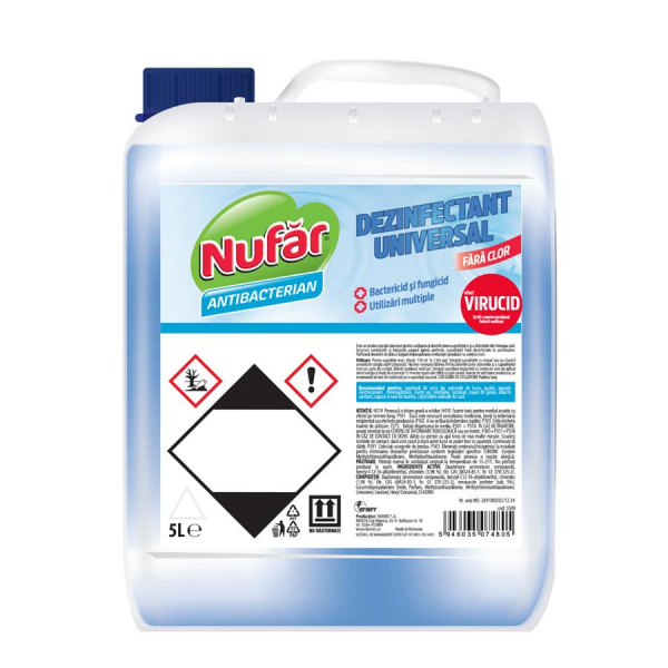 Nufar Dezinfectant universal, fara clor, 5 L [0]