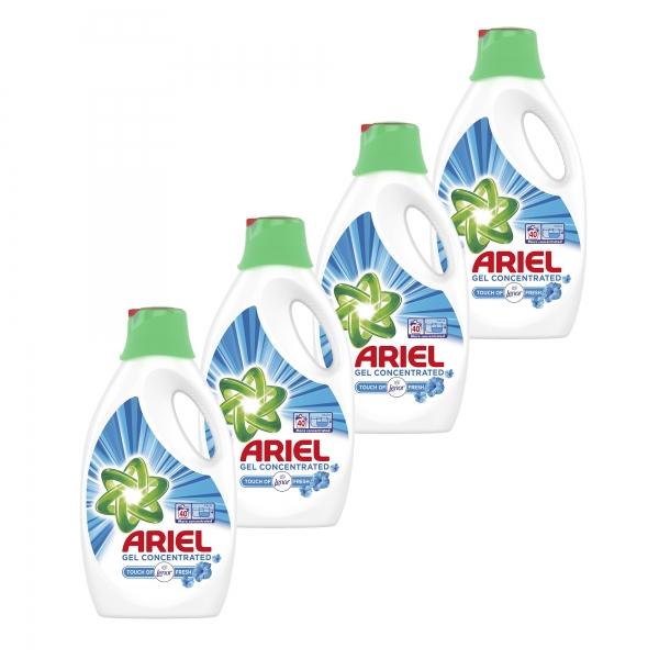 Pachet promo 4 x Ariel Detergent lichid, 2.2L, 40 spalari, Touch of Lenor Fresh [0]