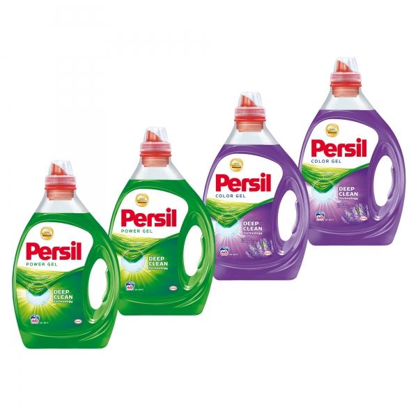 Pachet promo 4 x Persil Detergent lichid, 2L, 40 spalari, Power Gel & Color Gel Lavender [0]