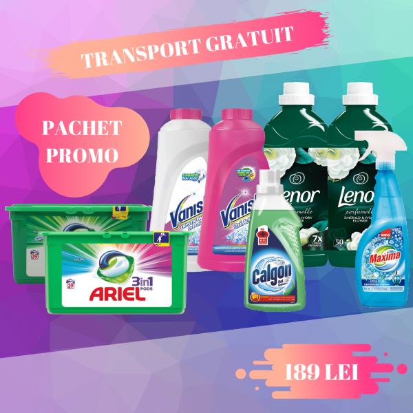 Pachet promo Ariel PODS, Lenor, Sano, Vanish, Calgon [0]