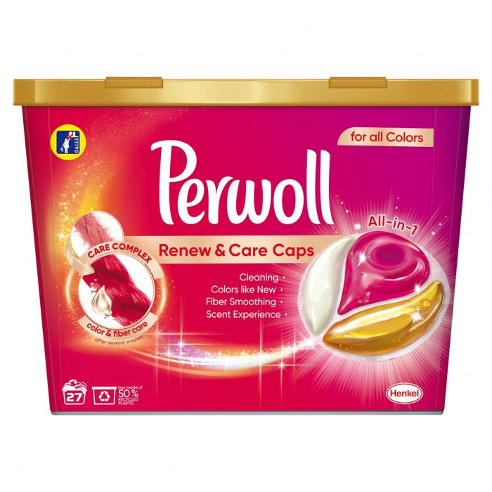 Perwoll Detergent capsule, Renew & Care Caps, 27 buc, Color [0]