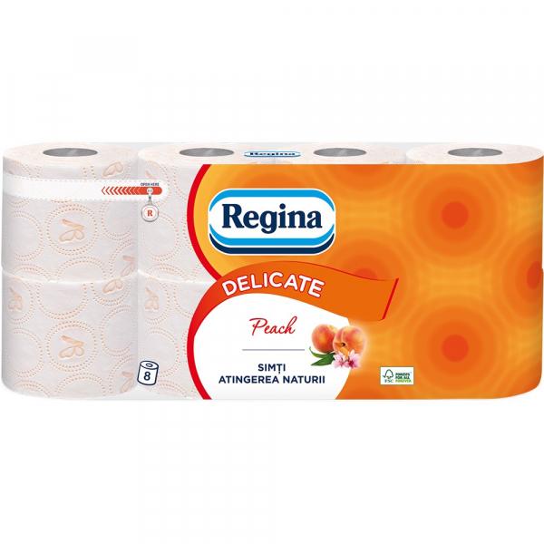 Regina Peach Hartie igienica, 3 straturi, 8 role [0]