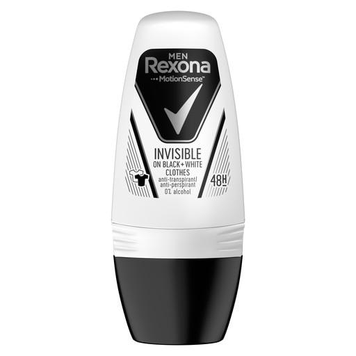 Rexona Deodorant Roll-on, Barbati, 50 ml, Invisible Black & White [0]