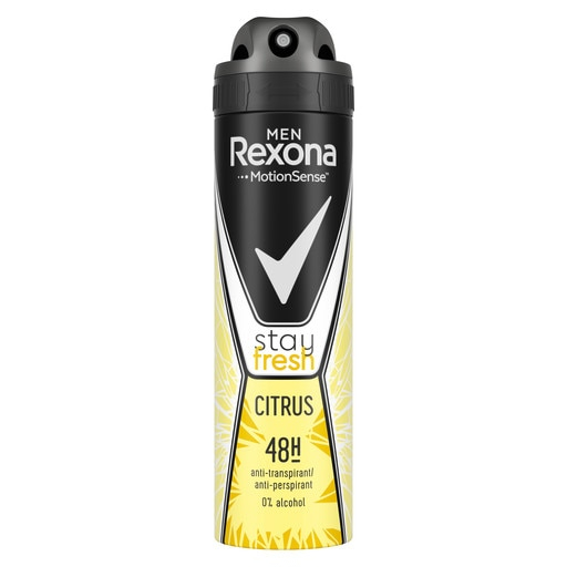 Rexona Deodorant spray, Barbati, 150 ml, Stay Fresh Citrus [0]