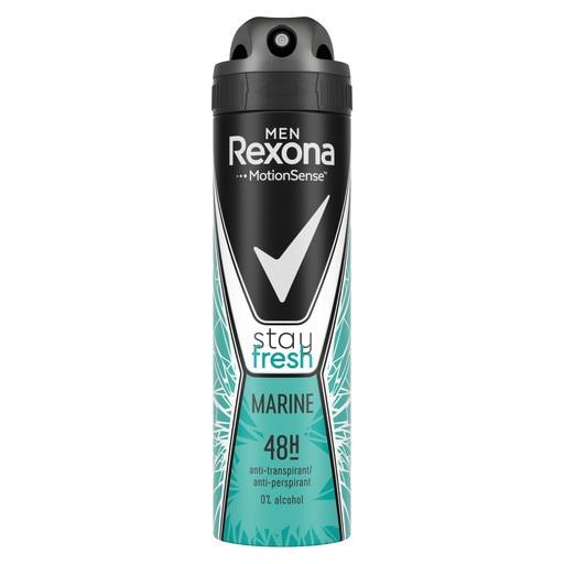 Rexona Deodorant spray, Barbati, 150 ml, Stay Fresh Marine [0]