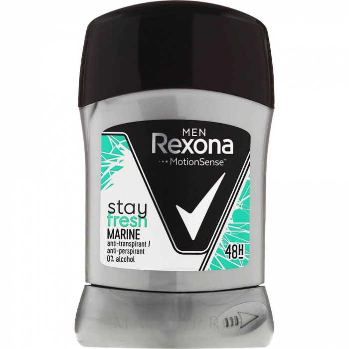 Rexona Deodorant stick, Barbati, 50 ml, Stay Fresh Marine [0]