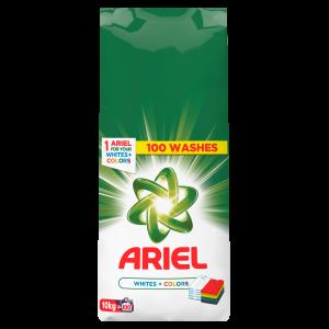 Ariel Detergent automat, 10 kg, 100 spalari, Whites & Colors [0]