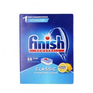 Finish Tablete pentru masina de spalat vase, 68 buc, Classic Lemon [0]
