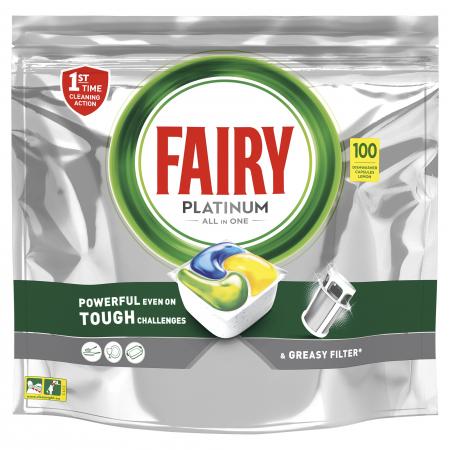 Fairy Detergent pentru masina de spalat vase, 100 capsule, Platinium [0]