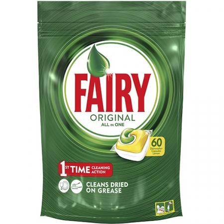 Fairy Detergent pentru masina de spalat vase, 60 capsule, Original [0]