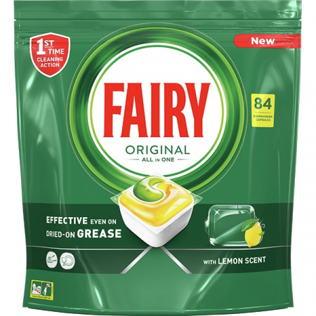 Fairy Detergent pentru masina de spalat vase, 84 capsule, Original [0]