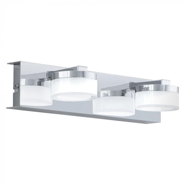 Aplica baie EGLO ROMENDO 94652, LED 2X4.5W 960lm 3000K IP44, Otel, Transparent, Satinat [0]