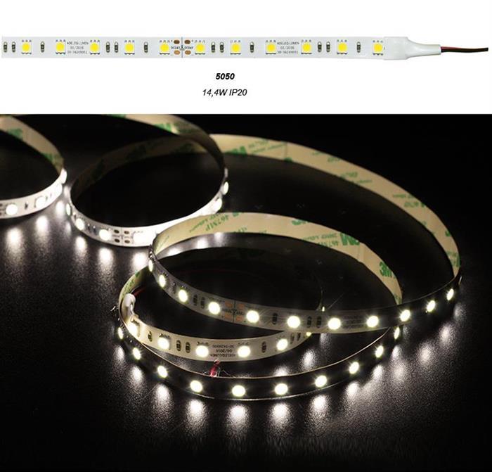Banda LED 14.4W 24V IP20 5050 lumina Calda [0]