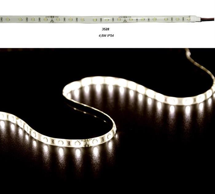 Banda LED 4.8W 12V IP54 3528 lumina Calda [0]
