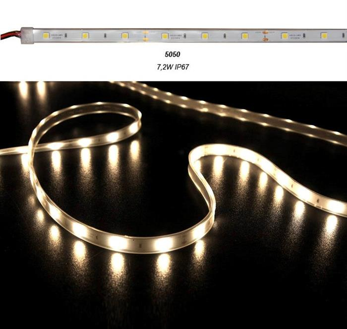 Banda LED 7.2W 12V IP67 5050 lumina Calda [0]
