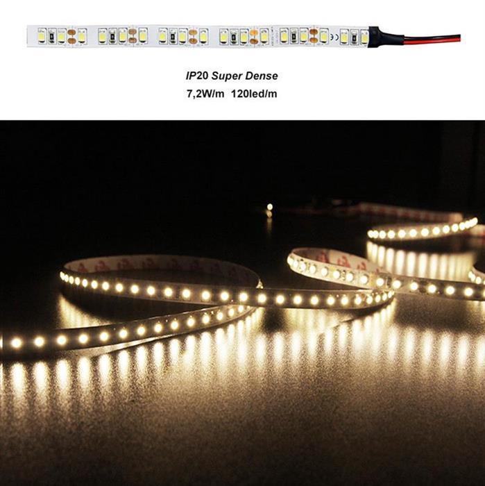 Banda LED 7.2W 12V Super Dense IP20  3528 lumina Calda [0]