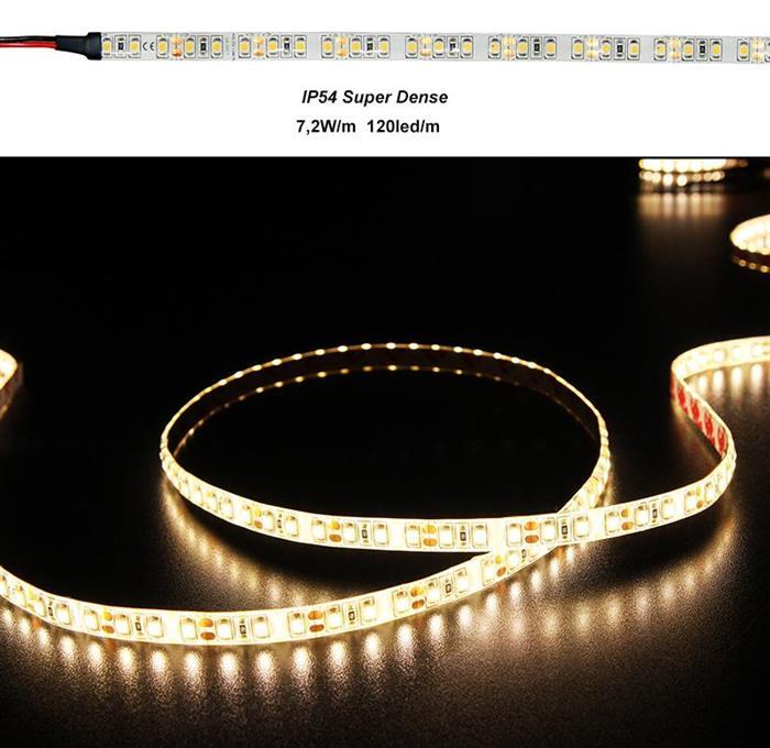 Banda LED 7.2W 12V Super Dense IP54 3528 lumina Calda [0]