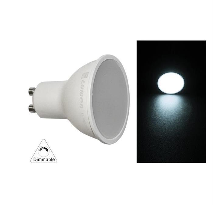 Bec colorat cu LED SMD GU10 230V GU10  10W (≈100w) lumina alba [0]