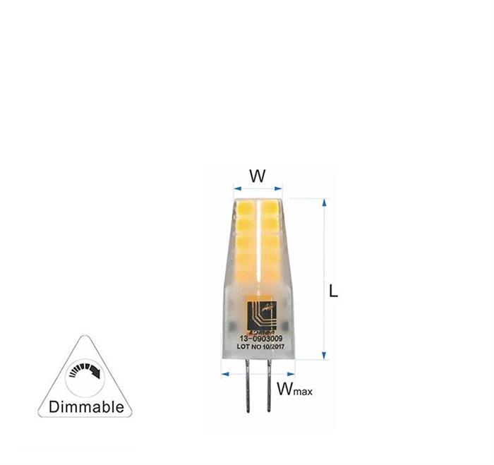 Bec cu LED SMD G4  dimabil 2.5W (≈22w) lumina calda [2]