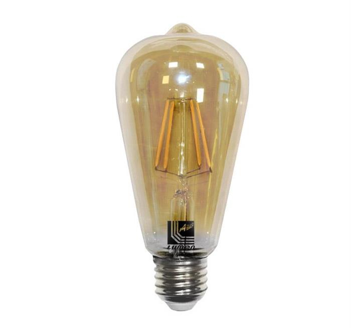 """Bec decorativ """" avocado"""" auriu cu LED COG E27 6W (≈60w) lumina calda [0]"""