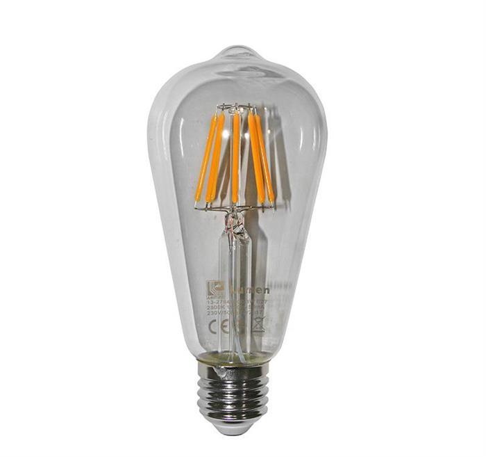 """Bec decorativ """" avocado"""" transparent cu LED COG E27 10W (≈130w) lumina calda [0]"""