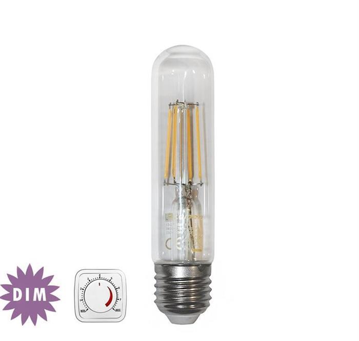 "Bec decorativ "" tub"" transparent cu LED COG dimabil E27 6W (≈78w) lumina calda [0]"