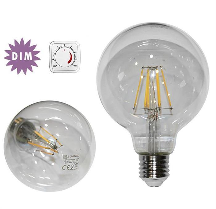 Bec glob transparent Ø 95 cu LED COG dimabil lumina calda [0]