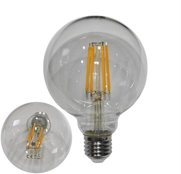 Bec glob transparent Ø 95 cu LED COG E27 10W (≈130w) lumina calda [1]