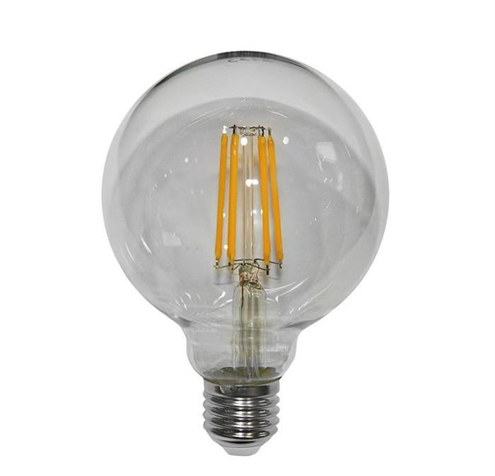 Bec glob transparent Ø 95 cu LED COG E27 10W (≈130w) lumina calda [0]