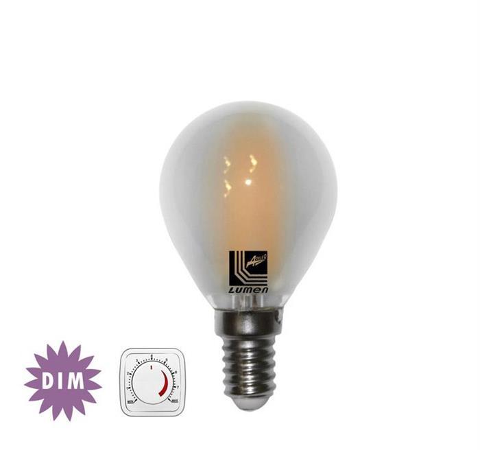 Bec sferic mat cu LED COG dimabil E14 4W (≈48w) lumina calda [0]