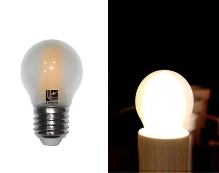 Bec sferic mat cu LED COG E27 4W (≈48w) lumina calda [0]