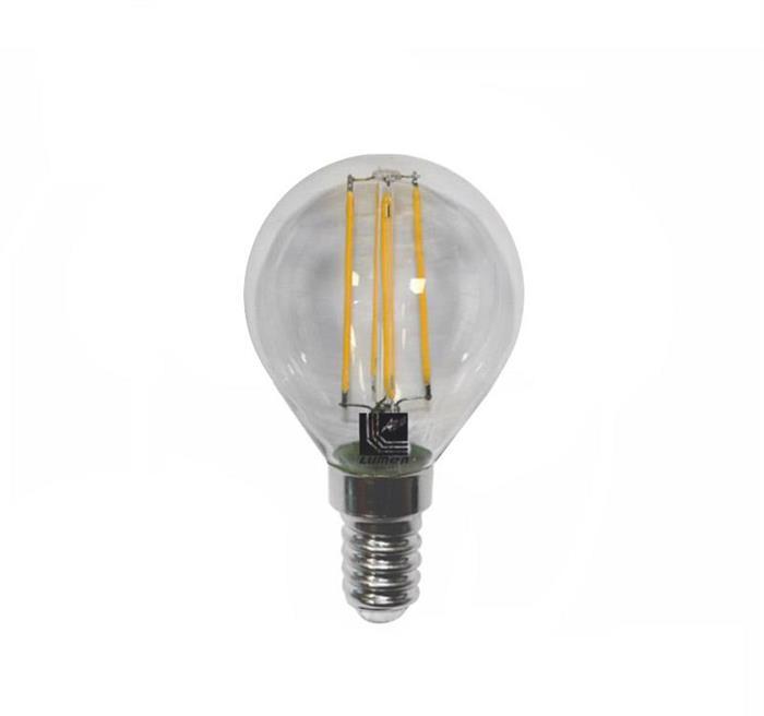 Bec sferic transparent cu LED COG E14 4W (≈48w) lumina calda [0]