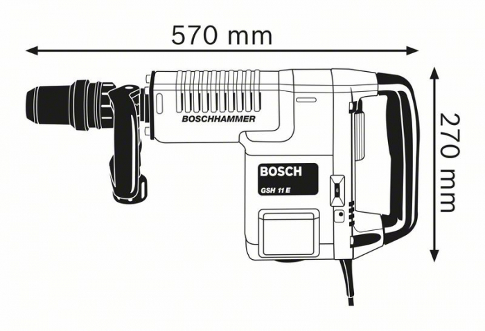 Ciocan demolator Bosch GSH 11 E, 1500W, 16.8J, 1890 batai, SDS Max [1]