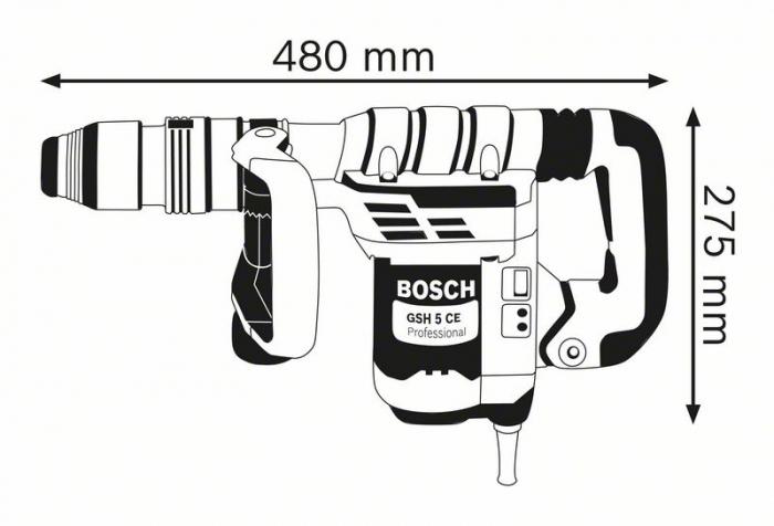 Ciocan demolator Bosch GSH 5 CE, 1150W, 8.3J, 2900 batai, SDS Max [1]