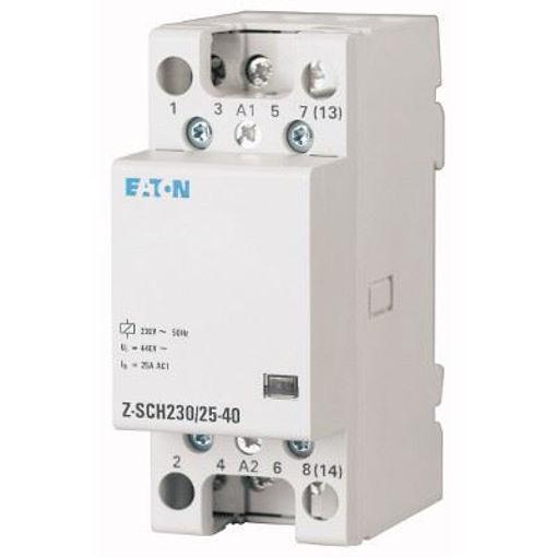 Contactor 25A 4ND modular cu comanda la 24V Eaton Z-SCH24/25-40 [0]