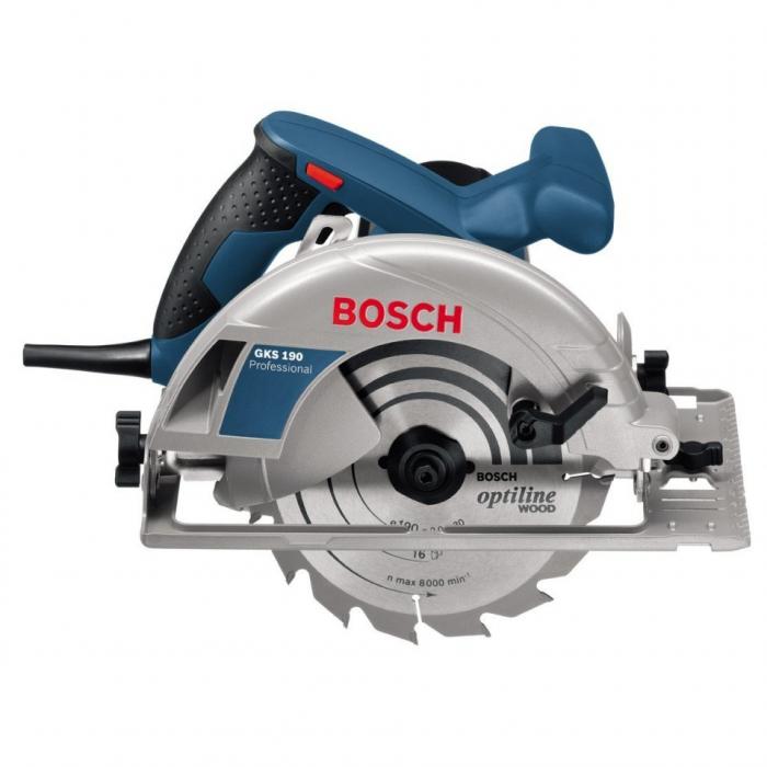 Fierastrau circular Bosch Professional GKS 190, 1400 W, 5500 RPM, 190 mm + valiza [0]