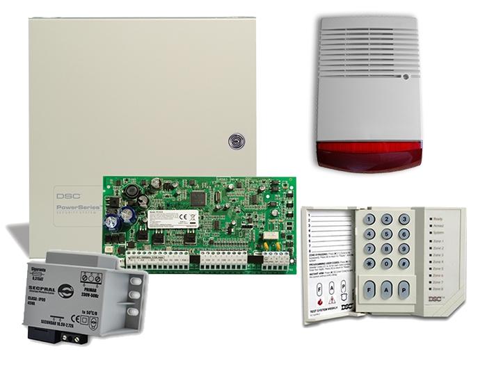 Kit alarma PC1616, sirena exterior autoalimentata flash SIR-12V [0]