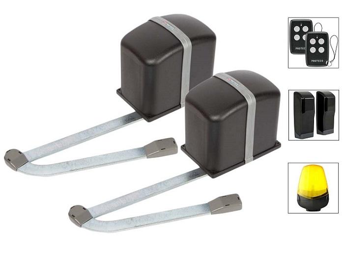 Kit automatizare porti batante 2m, 230V, receptor incorporat [0]