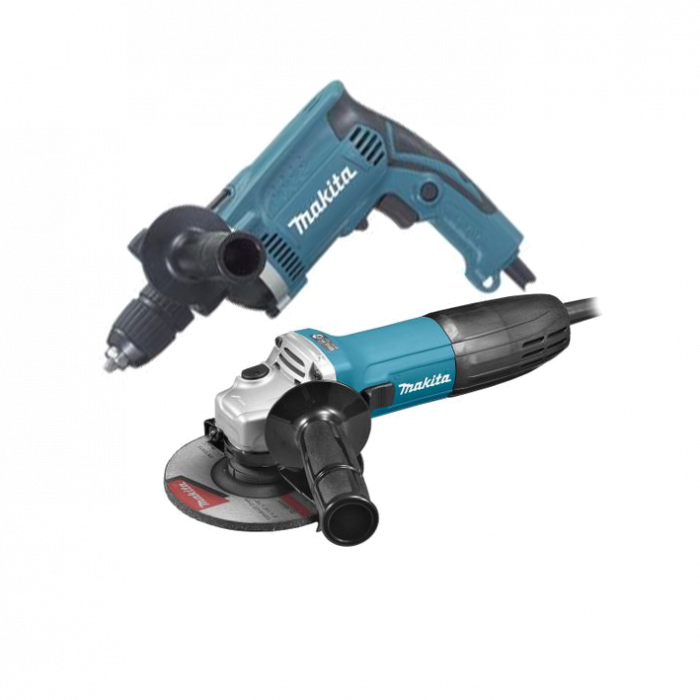Kit Makita polizor unghiular + masina de gaurit cu percutie [0]