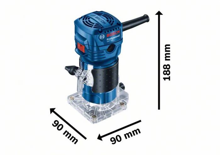 Masina de frezat Bosch GKF 550, 550W, 33000rot min, 6mm [4]