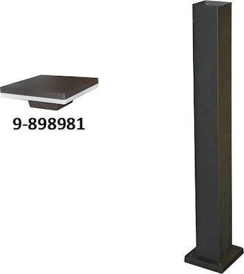 Stalp patrat h:0,65m pentru corp iluminat ruginiu led b328 [0]