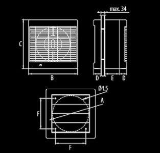 Ventilator axial gama Polo 6 OK cu cordon [1]