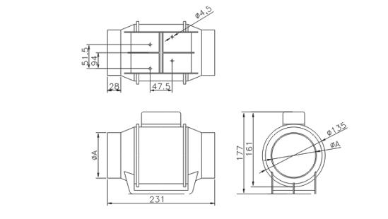 Ventilator axial gama Turbo standard - Ø100 [1]