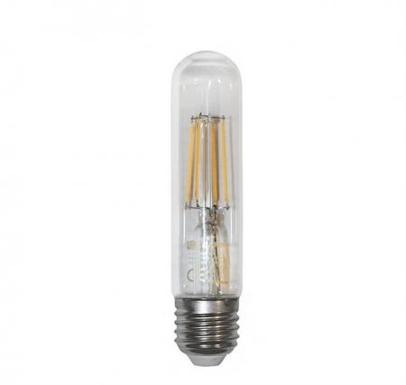 """Bec decorativ """" tub"""" transparent cu LED COG E27 6W (≈78w) lumina calda [0]"""