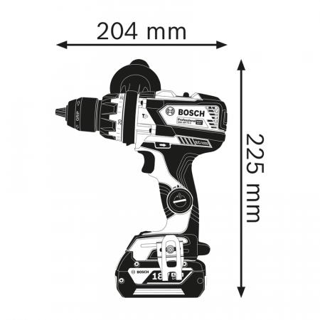Masina De Gaurit Cu Percutie Fara Acumulator Si Incarcator  Bosch Gsb 18V-110C [2]