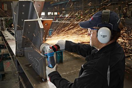 Polizor unghiular Bosch GWS 1400, 1400 W, 11.000 rpm, 125 mm [3]