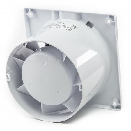 Ventilator baie gama Drim cu senzor de umiditate si timer-Ø125 Plexiglass Alb lucios [2]
