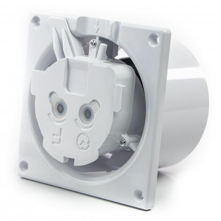 Ventilator baie gama Drim cu senzor de umiditate si timer-Ø125 Plexiglass Alb lucios [4]