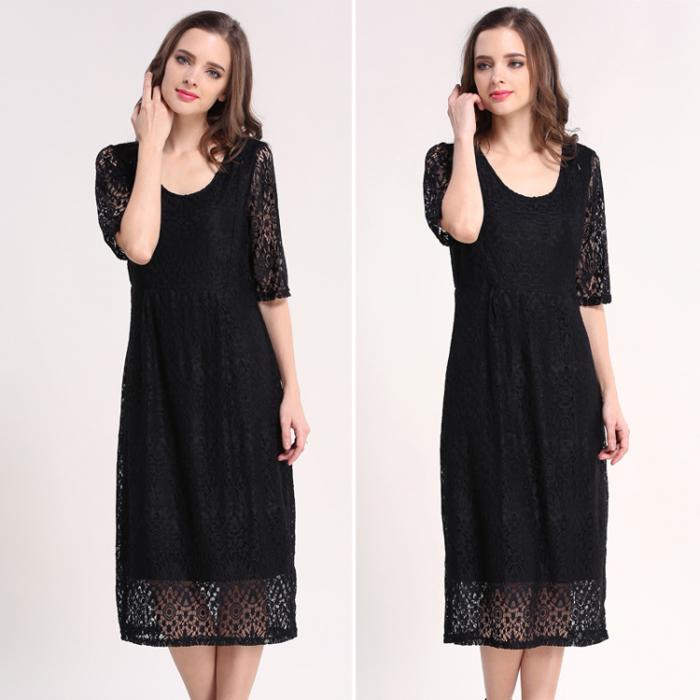 Black Lace - Rochie Eleganta Gravida & Alaptare, Transport Gratuit 5