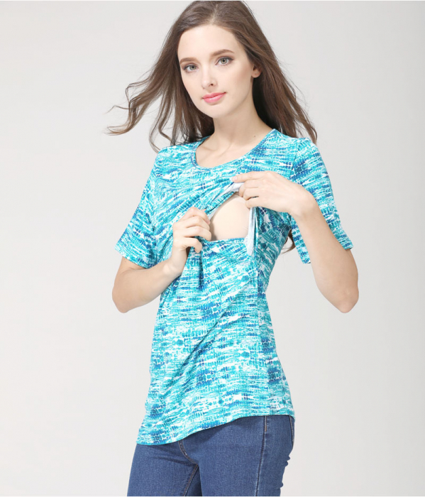 blue-aqua-tricou-gravida-alaptare 3